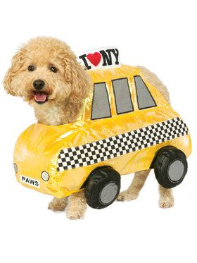 NYC Cab Taxi Pet Costume