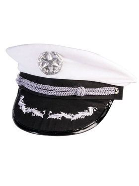 Officers Hat White Adult