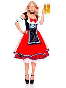 Women's Adult Oktoberfest Beer Girl Costume