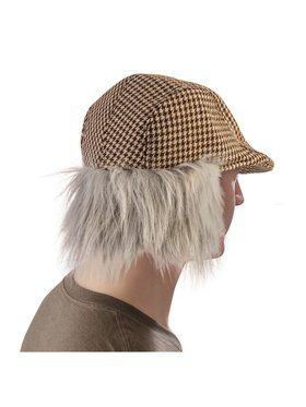 Old Man Checkered Hat With Hair Accessory
