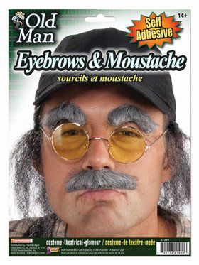Old Man Eyebrows and Moustache Accessory