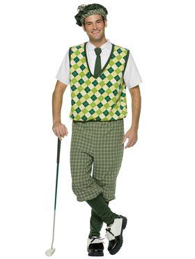 Old Tyme Golfer Adult Costume