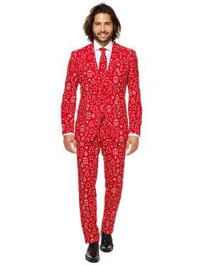 OppoSuits Iconicool Mens Suit And Tie Set
