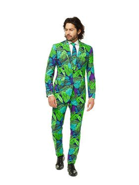 OppoSuits Juicy Jungle Mens Suit And Tie Set