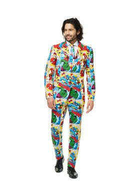 Marvel Comic Men's Costume Suit Set