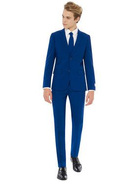 OppoSuits Navy Royale Teen Boys Suit And Tie Set