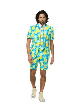 OppoSuits Shineapple Mens Summer Suit And Tie Set