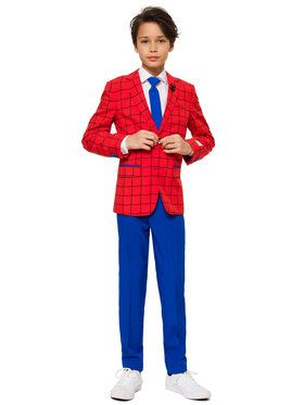 OppoSuits Spider-Man Teen Boys Suit And Tie Set