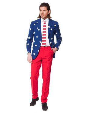 OppoSuits Stars and Stripes Suit for Men