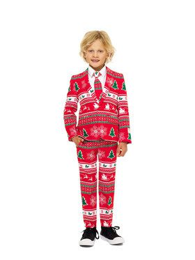 Boy's Red Holiday OppoSuits Set