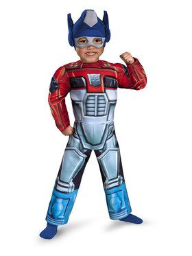 Toddlers Optimus Prime Rescue Bot Muscle Costume