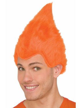 Adult Orange Fuzzy Wig