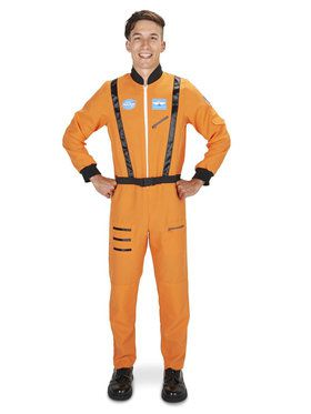 Orange Astronaut Costume For Adults