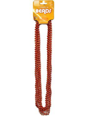 Orange Beads 6 Strands