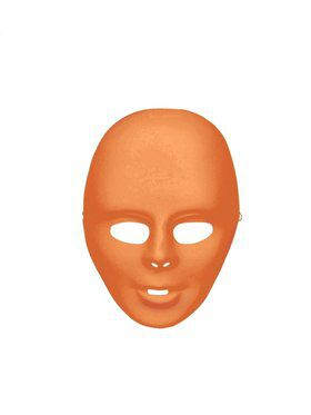 Orange Face Mask Adult