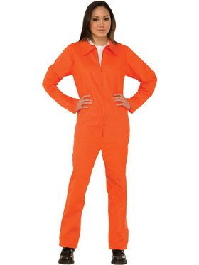 Orange Prison Suit Unisex Costume