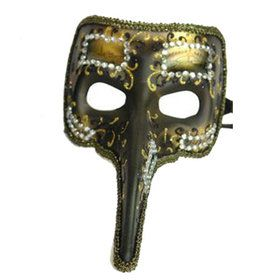 Ornate Venetian Long Nose Mask