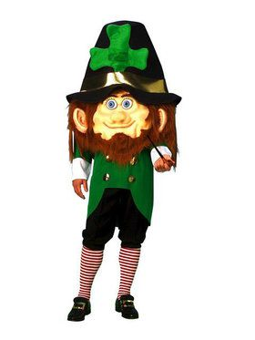Oversized Leprechaun Head Costume