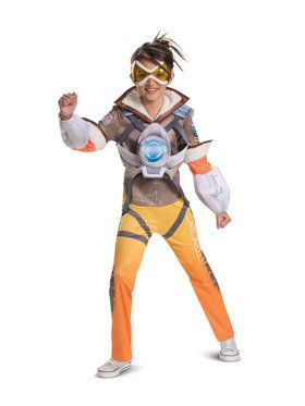 Deluxe Tracer Overwatch Costume for Children
