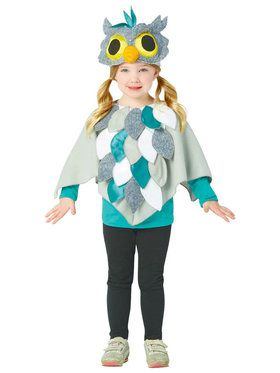 Toddler Owl Poncho Costume