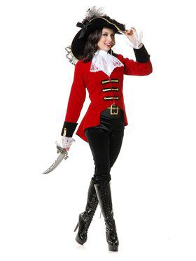 Women's Page Boy Pirate Lady Costume