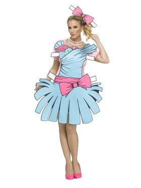 Womens Paper Doll Costume