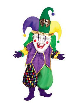 Parade Quality Jester Mascot Costume