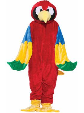 Plus Size Parrot Plush Economy Mascot Costume For Adults