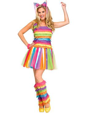 Adult Party Pinata Dress Costume For Adults