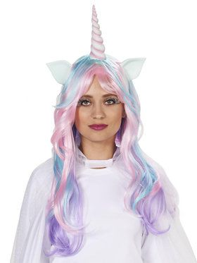 Pastel Unicorn Wig For Adults