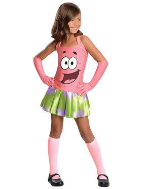 Patrick Star Girl's Costume