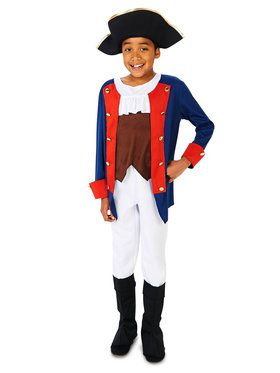 Child Patriot Soldier Boy Costume
