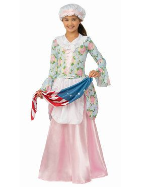 Childrens Betsy Ross Colonial Lady Costume