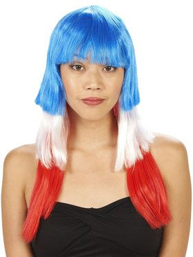 Patriotic Pop Adult Wig for Halloween