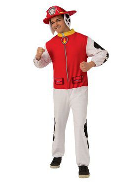 Paw Patrol Marshall Jumpsuit Costume for Adults