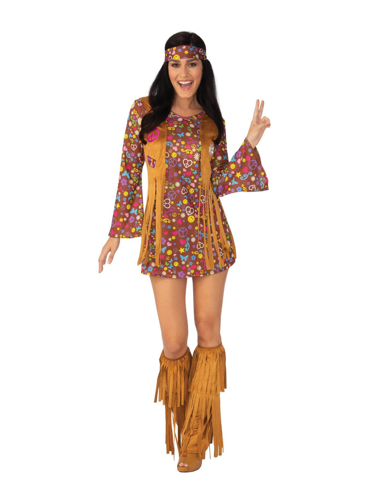 womens peace and love hippie costume - womens costumes for 2018