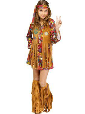 Peace & Love Hippie Girl's Costume