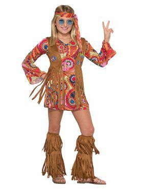 Peace Lovin Hippie Girl's Costume