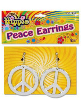 Peace Sign Pierced Earrings
