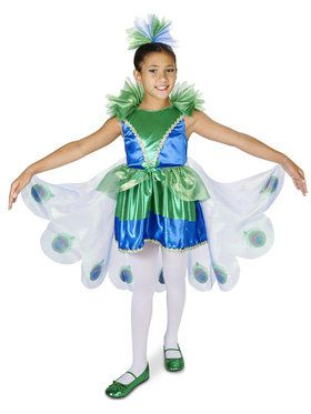 Peacock Child Costume for Halloween