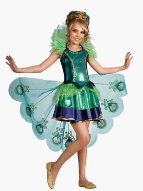 peacock girls costume