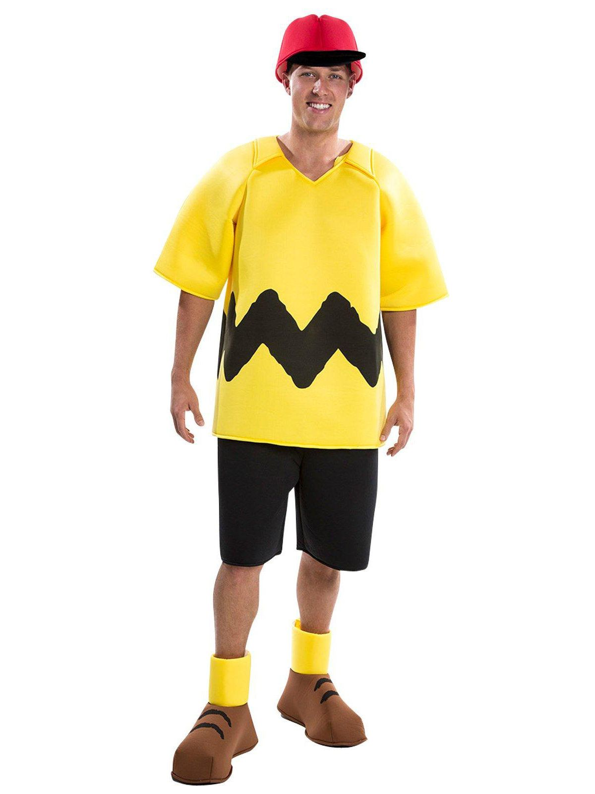 peanuts deluxe charlie brown costume for adults