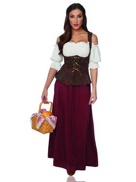 Peasant Lady Womens Costume