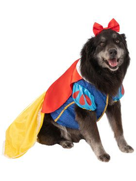 Pet Big Dogs Snow White Costume