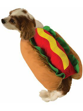 Hot Dog Pet Costume Small