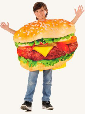 Photo Real Children's Cheeseburger Costume