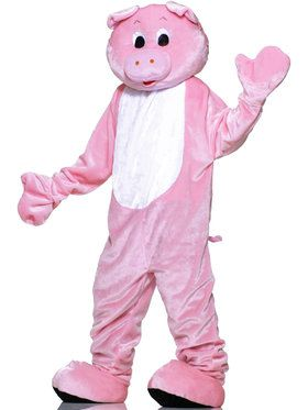 Plus Size Pig Plush Economy Mascot Costume For Adults