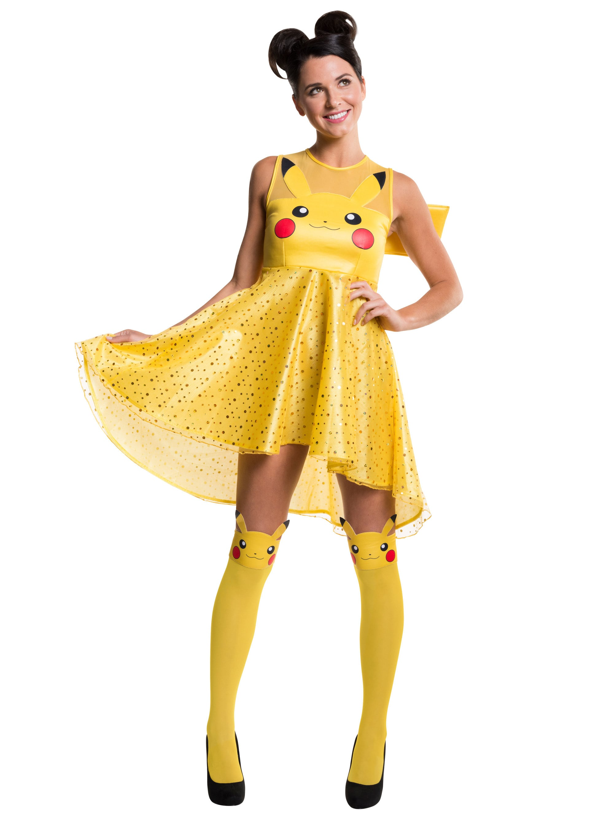women 39 s pikachu dress costume board video games womens costumes. Black Bedroom Furniture Sets. Home Design Ideas