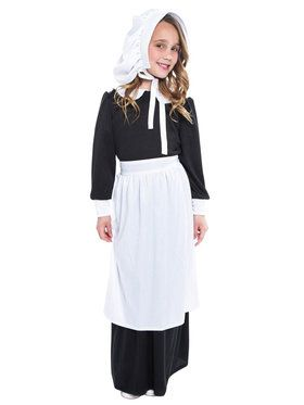 Pilgrim Girl Costume For Children