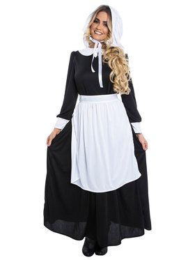 Pilgrim Lady Costume For Adults